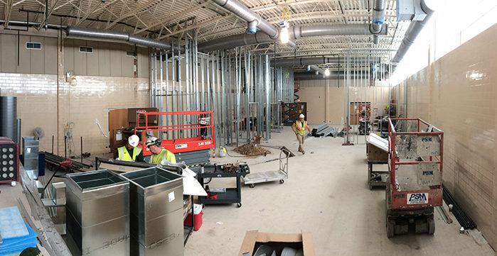 construction inside school