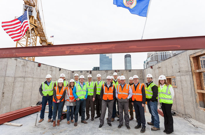 Topping Off for HQ Apartments on the KA Block, April 5, 2017