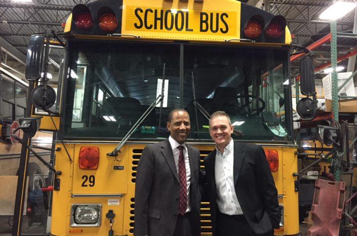 Tashitaa Tufaa and Matt Broderson at Metropolitan Transportation Network in Fridley, MN Minnesota Transportation Company